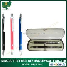 Aluminum Stationery Set Pen And Pencil Set