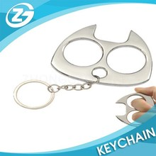 2015 Wholesale Cheap China Manufacturers Custom metal Cat Self Defense Keychain
