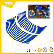 """16-18"""" Blue Wheel Rim Stripe Reflective Decal Tape Sticker for Car Motorcycle Cycling Bike Bicycle"""