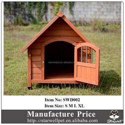 Outdoor large wooden dog house with lockable door