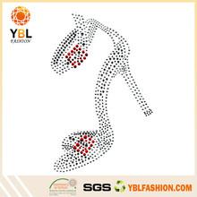 Alibaba Best Supplier hotfix high heel Transfer rhinestone motif shoes design