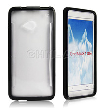 Protective Matte hard cover rubber bumper case for HTC One M7