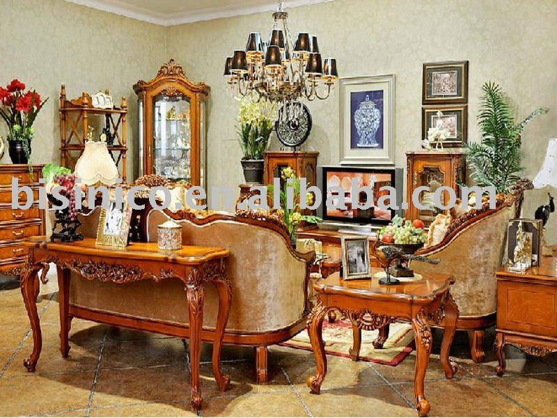 Antique European Style Luxury Living Room Furniture Set Bedroom