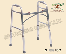 old people used folding aluminum walking frame walker