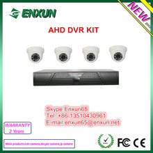 4ch H.264 Image standard, Support AHD & 960H Camera DVR Kit