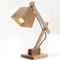 IKEA furniture simple style wood doggy table lamp power outlet hotel table lamp