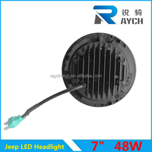 Round high low beam 7 inch car head light for honda crv for jeep motorcycle