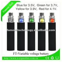 Factory directly selling IEC UN standard 3.7v 650mah Variable Voltage Ego Battery with polymer rechargeable battery