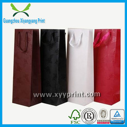 2014 New Fashion Recyle Paper Wine Bag With Spout Wholesale