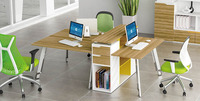 three people seat aluminium partition office screen workstation melamine cubicle office partition