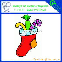 2014 popular and fashion High quality red Plush Christmas Stocking alibaba wholesale