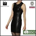 2015 venda quente vestido de mulher vestido de couro sexy