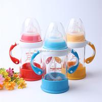 180ml wholesale high quality drinking glass baby nursing feeding bottle heat resistant glass baby feeding bottle manufacturer