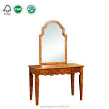 2015 hotsale king design wood furniture make up dressing table