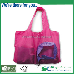 fashion polyester foldable bag for shopping