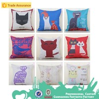 Digital& Sublimation Colorful Printed Customized Decorative Pillow