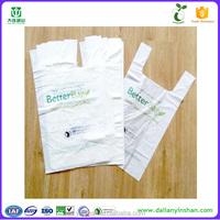 High quality custom printed t-shirt plastic shopping bag/100% biodegradable plastic bag