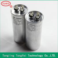 china supplier ANHUI TOFO Air Conditioner 15uf 25uf 35uf 45uf 55uf CBB65 Sh Capacitor CBB65 AC Motor Capacitor
