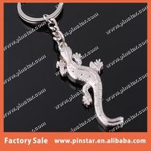 Hot Sale Cool Man Car Keychain Portable Metal Gecko Lizard Keyring Blank