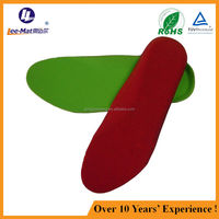 Soft memory foam shoe insole for sports and moisture wicking insole