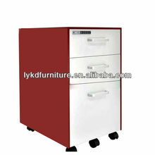 2012 hot sales small steel movable /mobile cabinet/moblie pedestal