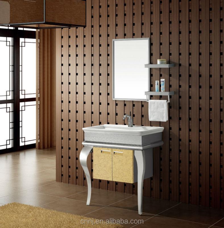 T 9446 En Acier Inoxydable Armoire De Toilette Salle De Bain Moderne Meuble Lavabo De Salle