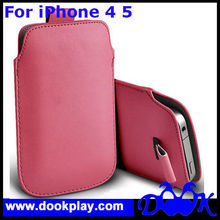 Pink PU Leather Pouch For iPhone 5 Bag