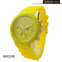 factory direct silicone rubber watch woman geneva
