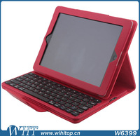 PU Case for iPad 2/3/4, LiChi Grain Skin Leather Flip Case with Keyboard for iPad 2/3/4 (9.7 inch)