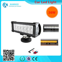 36W 10-30V C-ree 12 LEDs White & Yellow Spot and Flood Combo Beam Working light For Working / Driving / Fog, OffRoad Boat, SUV