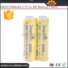TangsFire IMR 18650 2500mAh Rechargeable Li-HP 18650 3.7v battery