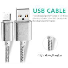 wholesale braided colored v8 18 pin micro usb data charging cable