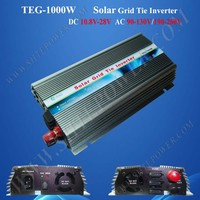 1KW 220v ac 60hz pv solar inverter on grid for 10.5-28v DC 1000w solar panels