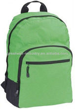 2012 Nylon green backpack with front zipper compartment