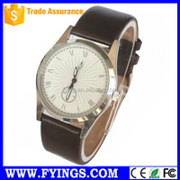 leather watches for men leather chronograph watch stainless steel case back Vogue watch