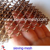 diamond hole metal mesh curtains, metal woven wire netting