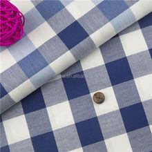 Blue check fabric for shirt