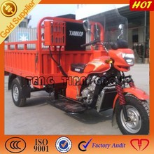 gasoline cargo tricycle battery powered auto rickshaw/2015 three wheel motorcycle/high powerful cargo tricycle