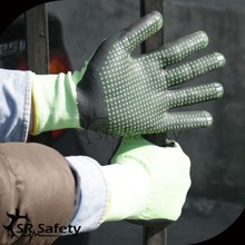 SRSAFETY green dots on palm good grip gloves nitrile glove