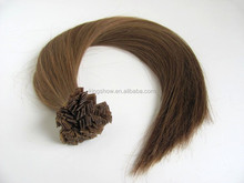 Tangling free Chinese virgin remy human pre bonded hair