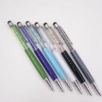 2014 capacitive 2 in 1Crystal stylus pen ,smartphone stylus touch pen for Iphone Ipad tablet PC