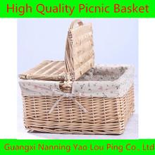 cesta de mimbre de baguette