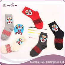 Chinese wind restoring ancient ways personality Peking Opera unisex socks