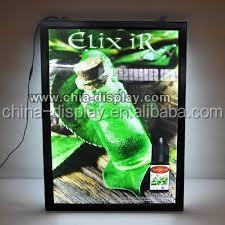 A2 aluminum led picture frame light up sign advertising acrylic led backlit photo frame