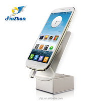 hot sale anti theft mobile phone stand with alairm and charging function in ABS