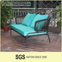 Hotsale Modern Outdoor Garden PE Plastic Rattan Rope Living Room Sofa divan living room furniture sofa
