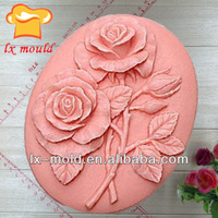 oval rose silicone baking mold for soap