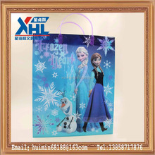 Snow and ice colors ,cool and pretty christmas gift bag (with plastic handle )