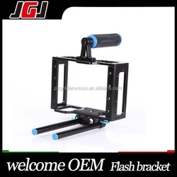 Promotion DSLR Cage Support for 15mm Rod Rig Video Camera for Canon 5D Mark II II 7D 60D D3000 D3100 for Olympus E-P3 E-P5