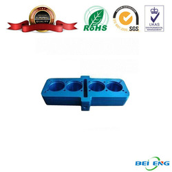 china supplier blue cnc milling motorcycle parts